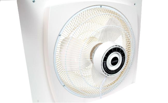 Lasko electrically reversible window fan 16 inch dollar for 10 inch window exhaust fan